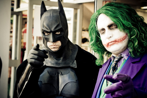 A picture of Batman and the Joker